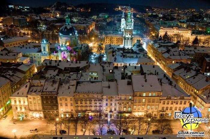 львов площадь рынок зима